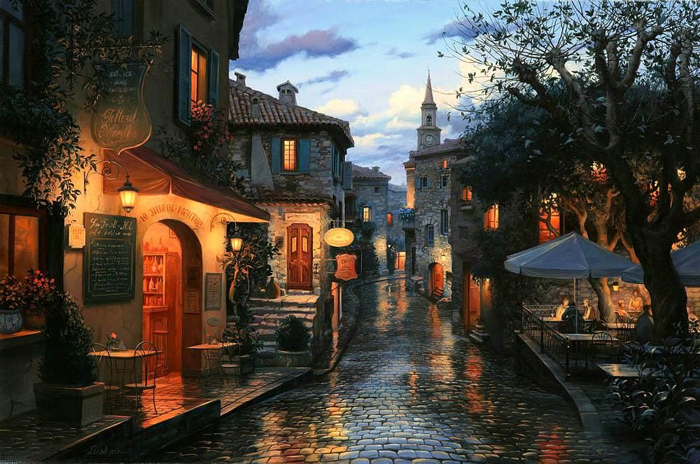 Magic Evening, oil on canvas.