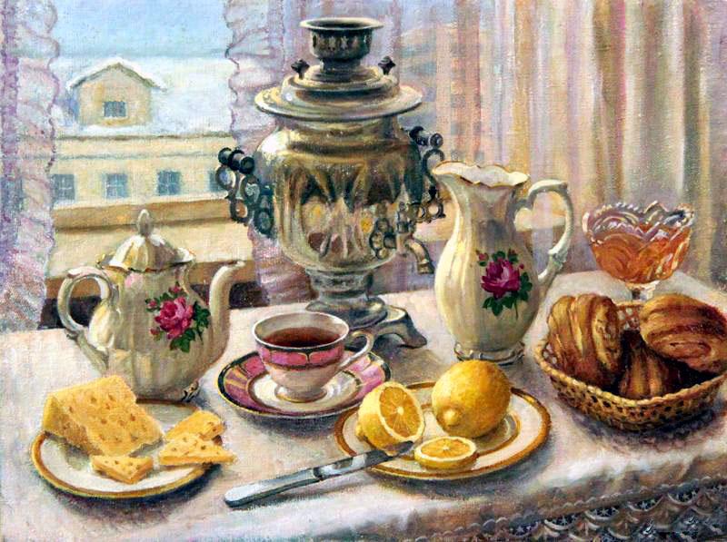 фото утренний чай